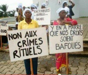 Gabon:nous ne voulons pas de la comedie dans des sujets sensible et inquietent de la republique;nous demandons aux intellectuels de bien vouloir prendre conscience de leurs comportements mal intentionnée et évité de faire certaines confusion dans politique crimes-rituels-gabon-300x255